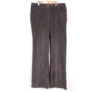 Dress Barn sz10 Corduroy Pants Brown Trouser Leg